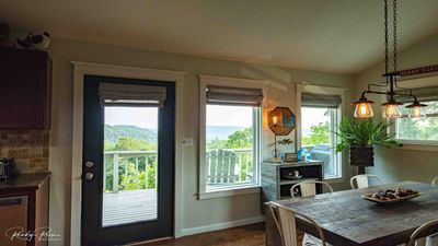 Enjoy  the beautiful view while relaxing inside the cottage.
