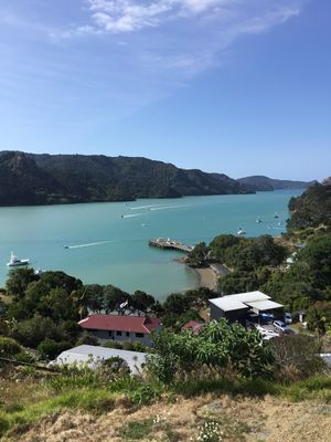 """Photo for """"The Deck""""  Magnificent panoramic views of Whangaroa Harbour and  landscape"""