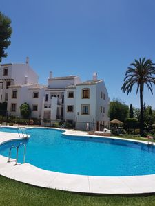 Photo for Mijas Costa. Peaceful location walking distance to beach, restaurants and shops
