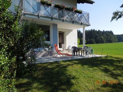 Photo for Apartment Salzburger Land near Wallersee with large terrace