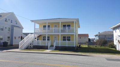 Our Renovated exterior has with new decks, steps, doors, windows & railings