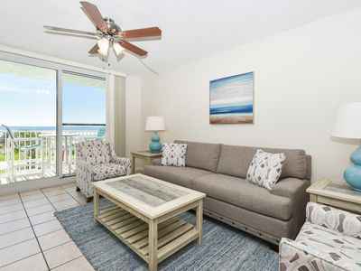 Photo for BEACHFRONT & POOL view! COASTAL décor w/ PRIVATE BALCONY to watch the sunrise 🌅