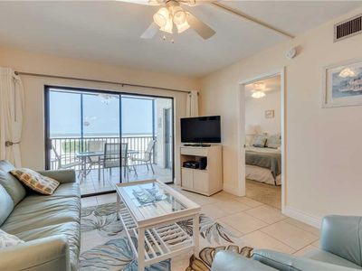 Photo for Carlos Pointe 113, 2 Bedrooms, Gulf Front, Elevator, Sleeps 6, Heated Pool