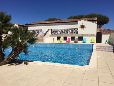 Photo for MOBILE HOME 4 PERS 150 METERS FROM THE BEACH OF HUTTES WITH SWIMMING POOL