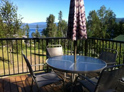 Front Deck with Lake Views