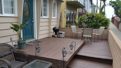 Photo for Mission Beach Cottage steps from the sand with large patio