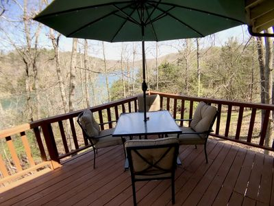 Photo for Little Clifty Escape, Beaver Lake Waterfront, amazing lakefront with Boat Access, Fishing, Sun Deck