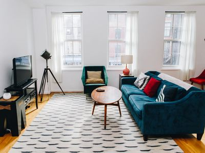 Photo for Upscale 2BR 2BA with terrace and washer/dryer in Soho