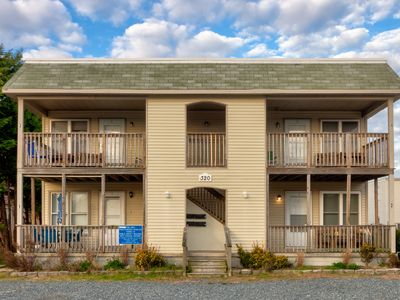 Photo for NEW LISTING! Cozy, dog-friendly beach condo w/ furnished deck & full kitchen