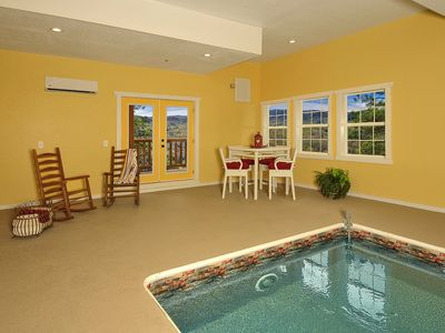 Photo for A KING'S PARADISE IN THE SMOKIES WITH INDOOR POOL AND GORGEOUS VIEWS!