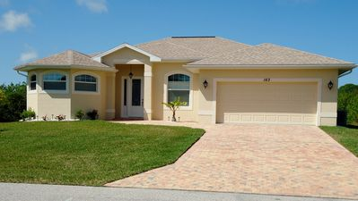 Photo for 5 star, luxury, waterfront, salt water pool, 3 bed/ 2bath