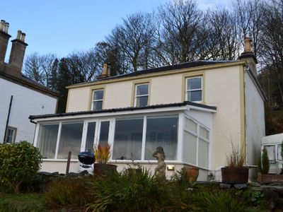Photo for Shorefront villa with conservatory 6 miles from Dunoon, sleeps 7 persons