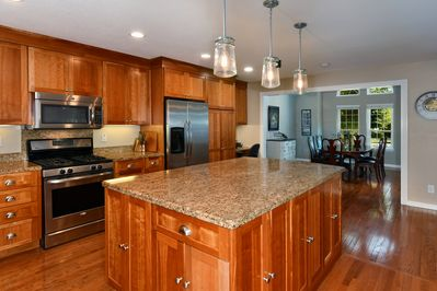 Large open kitchen for large gatherings.