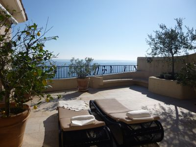 Photo for Rental magnificent 4 bedroom penthouse apartment Port la Galere Theoule amazing view