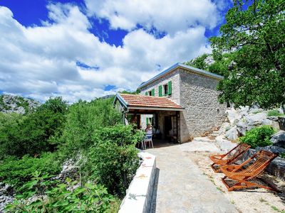 Photo for Authentic stone house on the mountain Velebit with unique view on the islands
