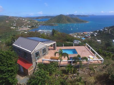Photo for Amazing view with pool 2 bedroom stone cottage in Coral Bay