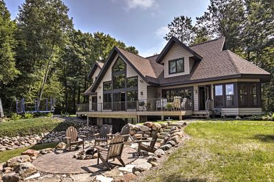 You'll have incredible views of Chippewa Flowage from every corner of the house!