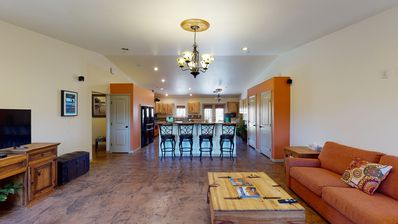 Photo for Oasis with hot tub, fire pit, dog friendly, star gazing, 5 bedrooms 3 bath