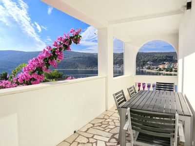 Photo for Two bedroom apartment with terrace and sea view Marina, Trogir (A-9035-b)