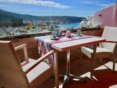 Photo for Estudio fully equipped ideal for couples, ocean view, free high speed WI-FI