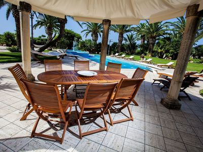 Photo for Stunning private villa for 10 guests with hot tub, A/C, private pool, WIFI, TV and parking