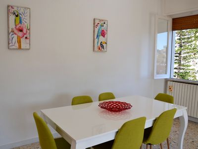 Photo for Bright apartment with 8 beds at 5min from the sea and from the historic center