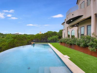 Photo for ARRIVE HILLTOP ESTATE Ultra Luxury w PoolSpa Cyn View Large Groups 6m Dwntn