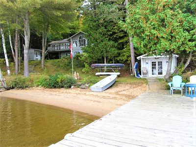 Photo for 5 bedroom, 2.5 bathroom, open-concept cottage with breathtaking lake views!