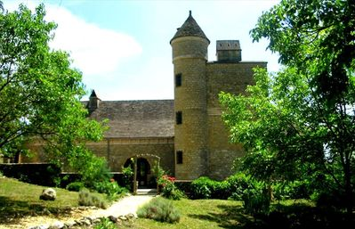 View of the grand maison from the garden.