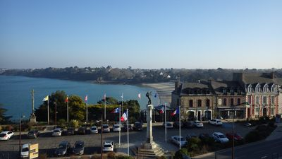Photo for Studio sea view Dinard direct access Priory beach and moonlight promenade