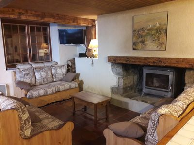 Photo for Chalet on the slopes of Guzet with FIREPLACE, SPA, SAUNA, WIFI INCLUSIVE
