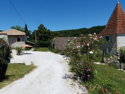 Photo for Charming gite with a tower, private swimming pool and a view perfect for couples