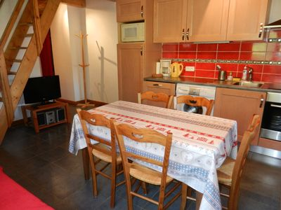 Photo for Apartments with terrace overlooking Mont Blanc, 2 bedrooms, in a renovated farmhouse.