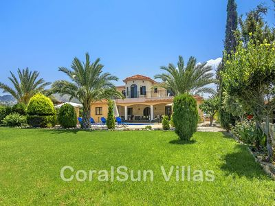 Photo for Beach front luxury villa, Wonderful garden, Enormous private pool,Fantastic area
