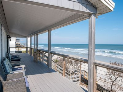 Photo for Oceanfront Vacation Rental Home with Covered & Open Deck