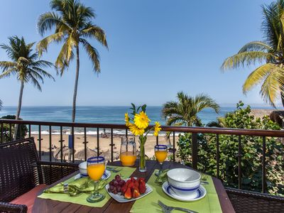 Photo for 2 BR beachfront condo with full ocean view