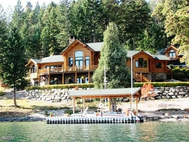 Quot Watersong Quot Luxury Lakefront Alpine Log Home Amp Guest