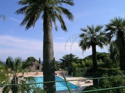 Photo for Studio 26 m2 with 10 m2 terrace, small sea view, beautiful park, pool