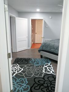 King Bedroom leading into the laundry room