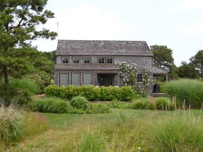 Photo for Open and airy cottage in Miacomet, sleeping 10 people.  Walk to the beach.