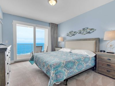 Photo for NEW LISTING! 2 Bedroom with Gulf View! Sleeps 8 with Free WiFI and Gulf World Ticket!