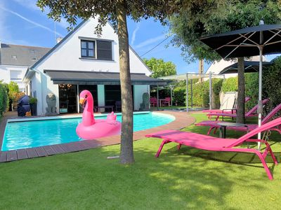 Photo for Villa renovated in 2010 with 32°C heated swimming pool and spa