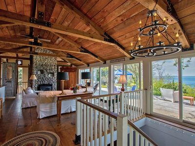 Photo for Extraordinary Oceanfront Cottage, light house views, 2 oceanfront master suites