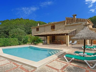 Photo for Can Oliva - This spacious villa includes a private pool, WI-FI & A/C