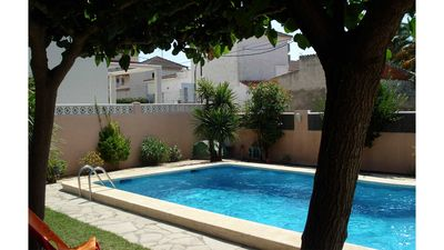 Photo for Villa 10 m from the beach with private pool - WIFI - Satellite, garden with trees