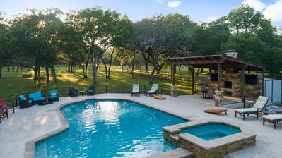 Photo for Private Hill Country House with Pool / Free WiFi / Fire-Pit / Hot tub