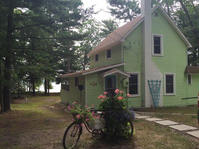 Photo for Charming Bass Lakefront Cottage, Walk or Kayak to Beautiful Lake Michigan Beach