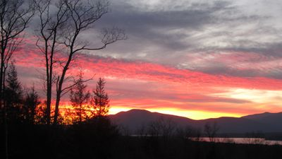 Autumn Sunset view of High Point Mountain.