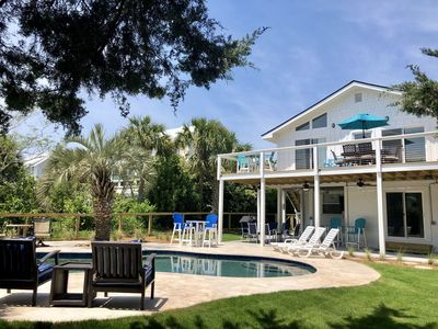 Photo for Beautiful 5BR/4BA House with NEW POOL; NEWLY RENOVATED; One Block from Beach