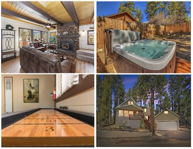 3min to Bear Mtn! 2-Story 4 beds 2.5 baths Cabin with new Jacuzzi!